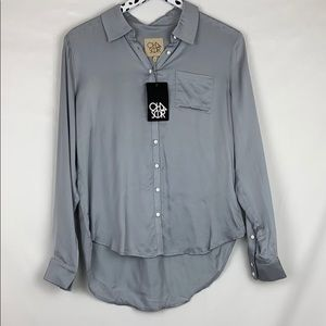 Chaser Button Down Shirt Long Sleeve Blouse Top